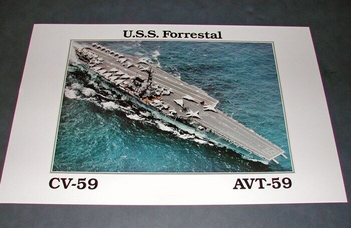 CV-59 AVT-59 USS FORRESTAL US Navy Aircraft Carrier Promotional Poster Print