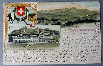 Waldstatt Kuranstalt Morgenstern 1901 Gelaufen Litho