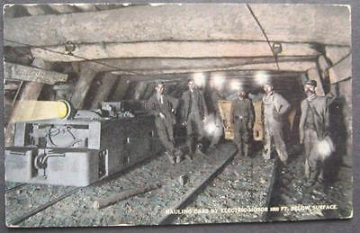 Hauling Cars By Electric Motor 1000ft Below Surface Scranton News A-43265
