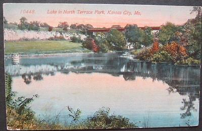 Lake In North Terrace Park Kansas City MO 1914 Acmegraph Company - Party City Kansas City Missouri