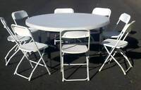 Folding Chairs/Tables Rental and much more.......