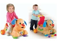 Fisher Price Push along puppy walker ride on