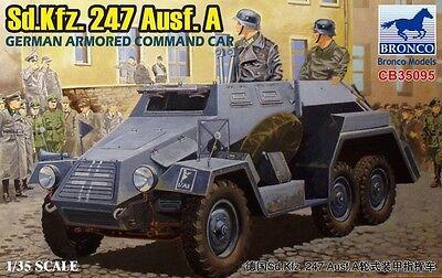 BRONCO CB35095 WWII German Sd.Kfz.247 Ausf.A Armoured Commando Car in 1:35