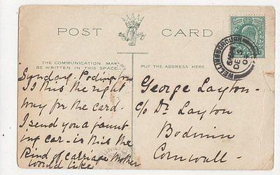 George Layton c/o Dr Layton Bodmin Cornwall 1904  325a