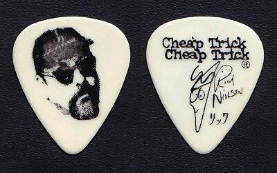 Vintage Cheap Trick Rick Nielsen Face White Guitar Pick - 1990's Tours