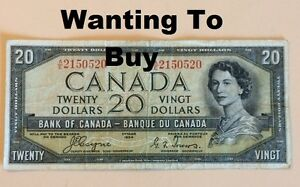 Looking to BUY old Canadian Paper Money.