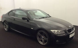 Black BMW 320d M Sport Leather Coupe FROM £51 PER WEEK!