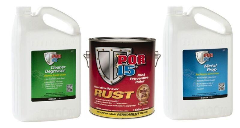 POR 15 Cleaner / Metal Prep / Rust Preventative Silver 3 Gallon Kit 104