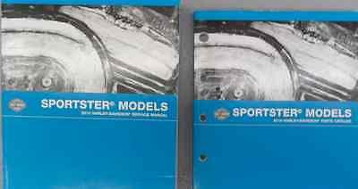 2010 Harley Davidson Sportster Service Repair Manual Set & W Parts Catalog Book
