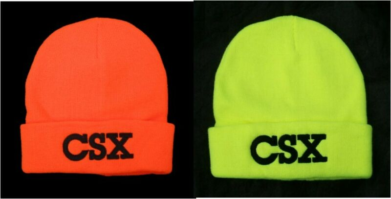 Csx Transportation Railroad Neon Orange Or Yellow Safety Beanie Cap 40-0022bn