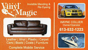 Vinyl & Leather repair and re-dyeing Kingston Kingston Area image 1