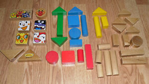 Toy wood / wooden Building Blocks for kids - made in Japan