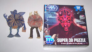 Star Wars Darth Maul Super 3D Puzzle + Toy Figures London Ontario image 1