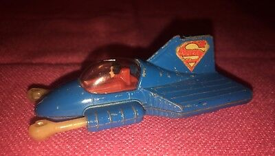 """1979 D.C. Comics """"Superman Supermobile By CORGI - Used - Punch Fist Still Works."""