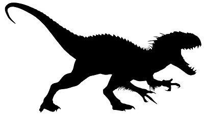 Dinosaur silhouette vinyl car Decal / Sticker