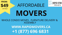 ⭐From $49 ⭐ PRO Moving & Furniture delivery Rapid Movers ®