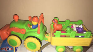 Musical farm animals and tractor