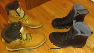 TIMBERLAND BOOTS 4 SALE $145 each brown(size 9.5), black(size10)