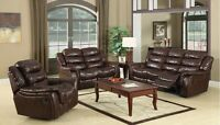 LORD SELKIRK FURNITURE - HECTOR 3PC RECLINER SET - COLOR BROWN