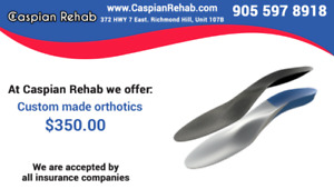 Custom Made Orthotics $350 at Caspian Rehab