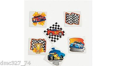 72 Birthday Party Favor Race Car RACING Nascar TEMPORARY TAT