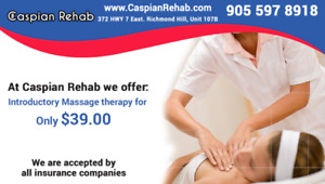 Registered Massage Therapy 1 hour for $39.00