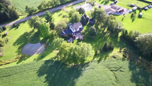 47.7 Acres of Farm + Beautiful Country Home in Hamilton!