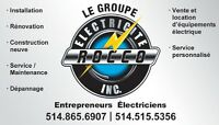 Le Groupe Electricien Rocco Inc.  / www.electriciterocco.ca