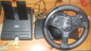 N64 V3 Racing wheel and pedals