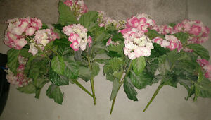 4 large fake Hydrangea pieces $ 5 ea or all for $ 15