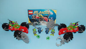 2 SETS LEGO ATLANTIS no 8059,  les SEABED SCAVENGER