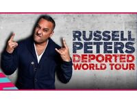 RUSSELL PETERS -Deported World Tour @SSE Arena, London-VIP Seats (Row 2-right in front of the stage)