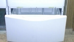 """ONE 15.5"""" HIGH PEDESTAL WITH DRAWER FOR WASHER OR DRYER"""