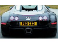 Number plate for a successful CEO