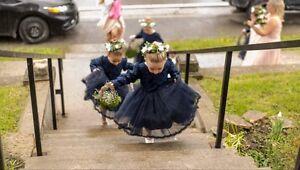 Navy Flower Girl Dresses
