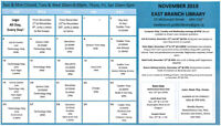 November Calendar of Events - East Branch Library