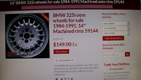 "OEM BMW 14"" alloy rims"