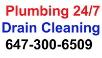 Plumbing/Drain Cleaning Same Day Service ☎️ 647-300-6509
