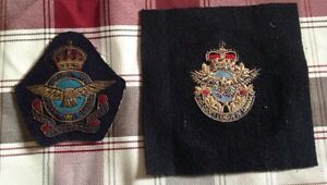 Militaria - vintage RCAF crest and Air Cadet League of Canada