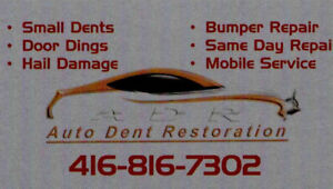 Dent Removal PDR Door Dings Small Dent Repair Serving Durham