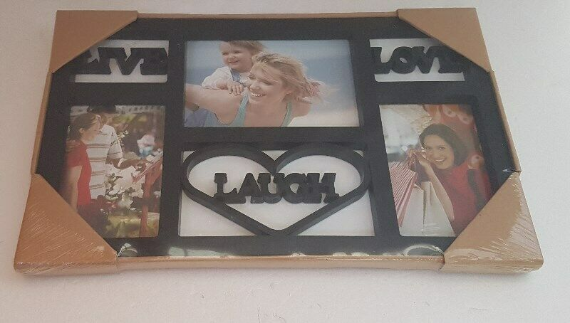 A new photo frame, Live, Laugh, Love design, sealed condition