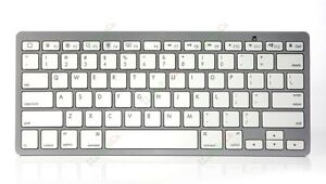Brand new Bluetooth Wireless Keyboard White Keys Silver