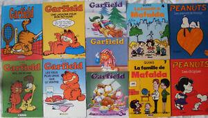 GARFIELD, ACHILLE TALON, MAFALDA,LES 4 AS,SIMPSON ,PEANUTS,