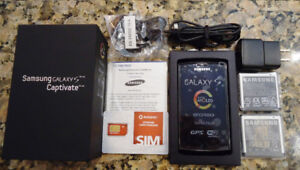 SAMSUNG GALAXY S Captivate SGH-i896, 16GB Smart Phone