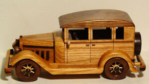 1930's Buick Sedan Wooden Handcrafted Collectible Car