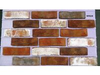 "Brick tiles (slips) ""Rustic "", red/black/ white flamed ref 619NF Hand moulding"