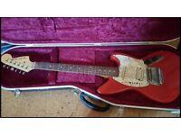 50th anniversary Fender Jagstang with Hiscox flight case