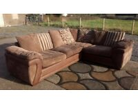 Large Jumbo corduroy Corner Sofa from Dfs