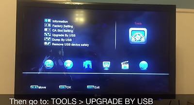 Go to 'Tools' then 'Upgrade By USB'