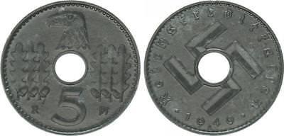 Reichskreditkassen 5 Pfennig J.618 1940 A  vorzüglich-prägefrisch, Zinkpatina